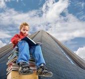 De jongen van de lezing Stock Foto's