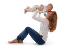 De Jongen van de moeder en van de Baby Royalty-vrije Stock Fotografie