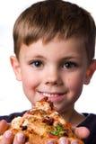 De jongen van de pizza royalty-vrije stock foto's