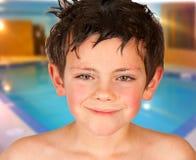 De Jongen van de pool stock afbeeldingen