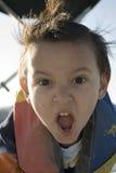 De Jongen van de Rit van de boot Stock Afbeelding