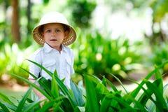 De jongen van de safari Royalty-vrije Stock Afbeeldingen