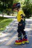 De jongen van de schaatser Stock Foto's