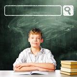 De jongen van de school Stock Afbeelding