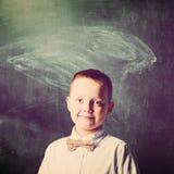 De jongen van de school Stock Foto