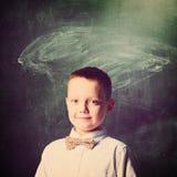 De jongen van de school Stock Afbeeldingen