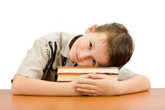 De jongen van de school   royalty-vrije stock afbeelding
