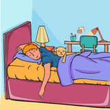 De jongen van de slaap stock illustratie