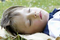De jongen van de slaap Royalty-vrije Stock Foto