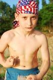 De jongen van de spier Stock Afbeeldingen
