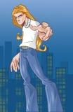 De jongen van de straat royalty-vrije illustratie