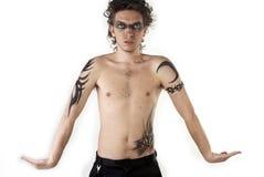 De Jongen van de tatoegering stock foto's