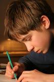 De jongen van de tekening Stock Foto's