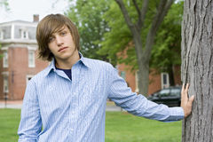 De Jongen van de tiener Stock Foto's
