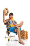 De jongen van de tiener, de lenteonderbreking Royalty-vrije Stock Afbeelding