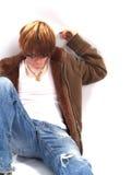 De Jongen van de tiener met Houding stock afbeelding