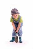 De jongen van de tuinman royalty-vrije stock afbeeldingen