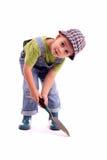 De jongen van de tuinman stock afbeelding