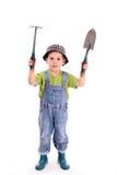 De jongen van de tuinman stock afbeeldingen