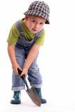 De jongen van de tuinman royalty-vrije stock afbeelding