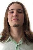 De jongen van de universiteit op wit Royalty-vrije Stock Afbeelding