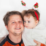 De Jongen van de vader en van de Baby Stock Foto's