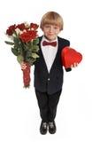 De jongen van de valentijnskaart Stock Foto