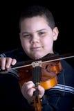 De jongen van de viool stock foto