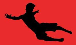 De jongen van de vlieger stock illustratie
