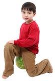 De Jongen van de watermeloen Stock Foto's