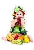 De jongen van de watermeloen Stock Afbeeldingen