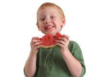 De Jongen van de watermeloen Royalty-vrije Stock Foto