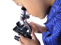 De jongen van de wetenschap Stock Foto