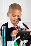 De jongen van de wetenschap Royalty-vrije Stock Foto