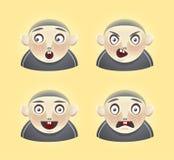 De jongen van Emoticon Stock Afbeeldingen