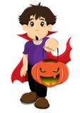 De jongen van Halloween Stock Afbeeldingen
