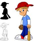 De Jongen van het honkbal Stock Afbeeldingen