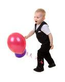 De jongen van het kind met ballons royalty-vrije stock foto