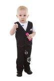 De jongen van het kind met bellen royalty-vrije stock fotografie