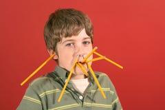 De jongen van het potlood stock afbeelding