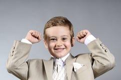 De jongen van het succes Stock Foto