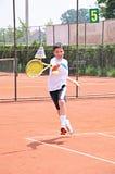 De jongen van het tennis Stock Afbeeldingen