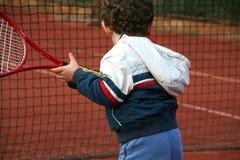 De Jongen van het tennis Stock Foto's