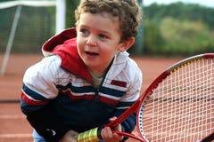De Jongen van het tennis Stock Foto