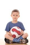 De jongen van het voetbal Stock Afbeelding