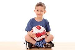 De jongen van het voetbal Royalty-vrije Stock Afbeelding