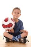 De jongen van het voetbal Royalty-vrije Stock Afbeeldingen
