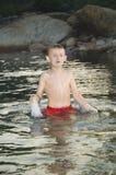 De jongen van het water royalty-vrije stock afbeeldingen