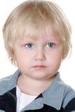 De jongen van Nice in een gestreept vest royalty-vrije stock afbeelding
