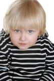 De jongen van Nice in een gestreept vest royalty-vrije stock foto's